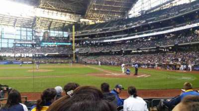 Miller Park, section: 121, row: 7, seat: 3