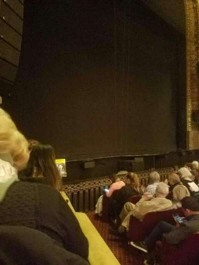 Palace Theatre (Broadway), section: orch left, row: f, seat: 1