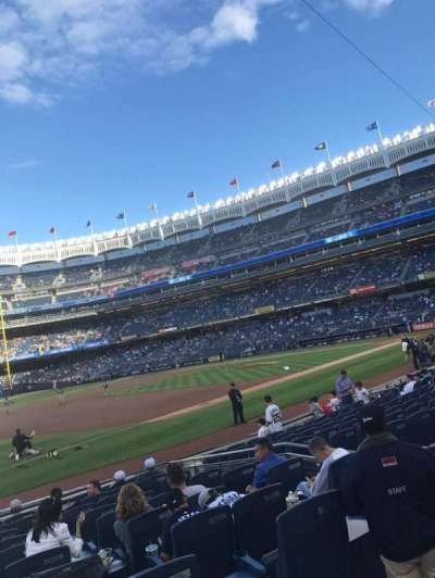 Yankee Stadium, section: 127b, row: 1, seat: 9