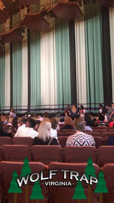 Wolf Trap, section: Orch Left, row: L, seat: 61