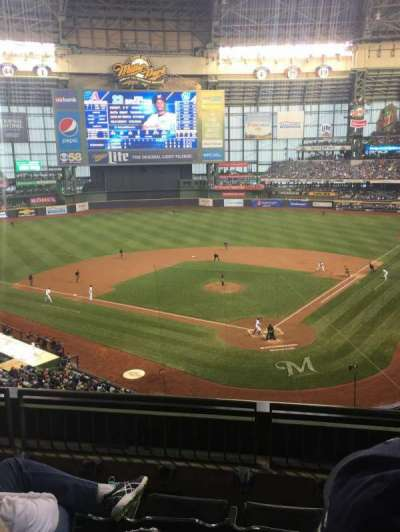 Miller Park, section: 332, row: 4, seat: 4