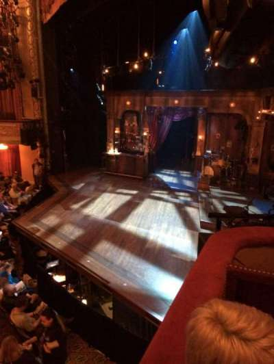 Bernard B. Jacobs Theatre, section: Box C, seat: 1