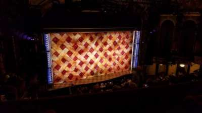 Brooks Atkinson Theatre, section: Mezzanine, row: F, seat: 1