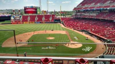 Great American Ball Park, section: 419, row: B, seat: 9