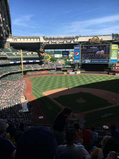 Miller Park, section: 421, row: 7, seat: 10