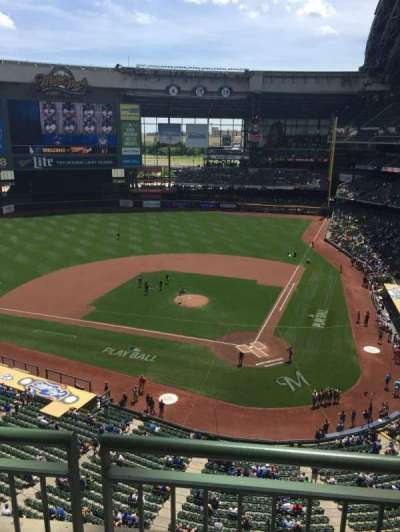 Miller Park, section: 425, row: 1, seat: 11