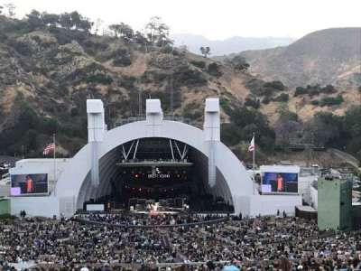 Hollywood Bowl, section: R1, row: 1, seat: 29