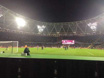 London Stadium, section: 153, row: 1, seat: 534