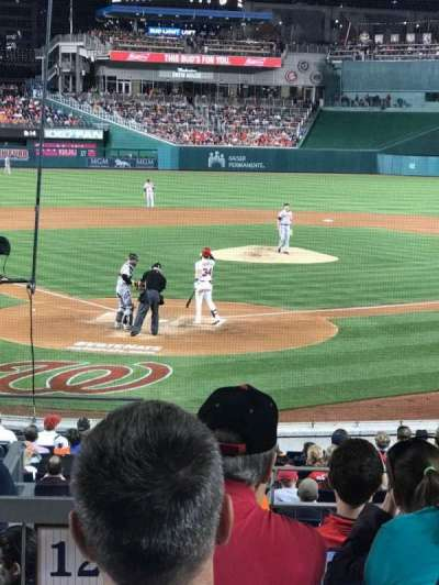 Nationals Park, section: 124, row: F, seat: 10