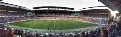Ibrox Park, section: Club Deck, row: K, seat: 161