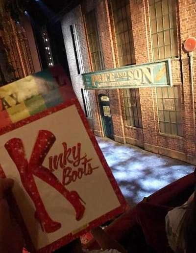 Al Hirschfeld Theatre, section: Right Box, row: D, seat: 10