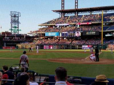 Citizens Bank Park, section: Diamond Club B, row: 8, seat: 8