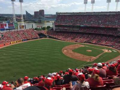 Great American Ball Park, section: 511, row: M, seat: 18