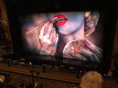 Nederlander Theatre, section: Left Mezzanine, row: D, seat: 4