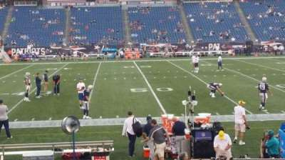 Gillette Stadium, section: 110, row: 13, seat: 5