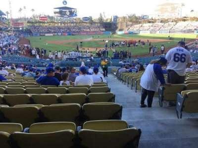 Dodger Stadium, section: 2fd, row: W, seat: 13