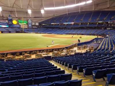 Tropicana Field, section: 135, row: Y, seat: 12