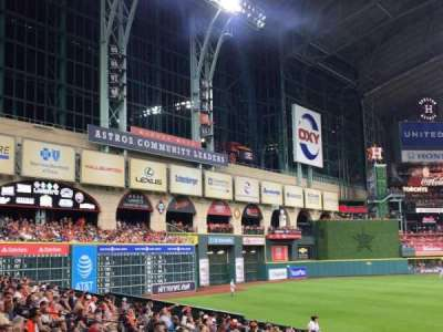 Minute Maid Park, section: 110, row: 19, seat: 1