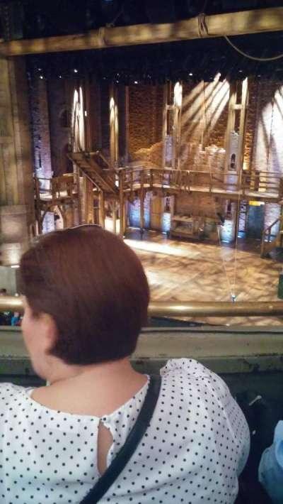 PrivateBank Theatre, section: Mezzanine R, row: B, seat: 6
