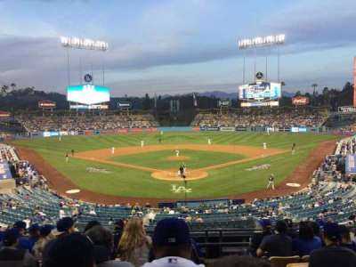 Dodger Stadium, section: 101LG, row: H, seat: 1