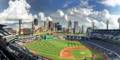 PNC Park, section: 323, row: Q, seat: 4