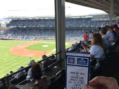 Wrigley Field, section: 505, row: 3, seat: 108