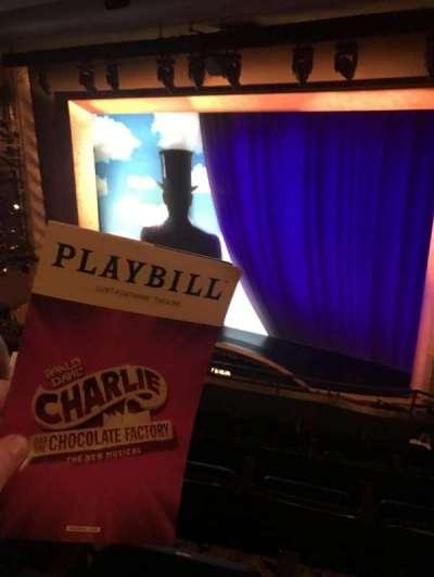 Lunt-Fontanne Theatre, section: Front Mezz, row: E, seat: 12