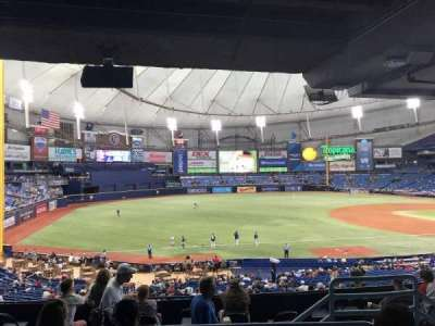 Tropicana Field, section: 129, row: TT, seat: 12