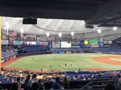 Tropicana Field, section: 129, row: TT, seat: 12
