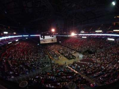 Toyota Center, section: 420, row: 1, seat: 16
