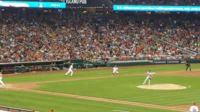 Nationals Park, section: 132, row: ll, seat: 10
