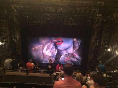 Nederlander Theatre, section: Mezzanine, row: N, seat: 105