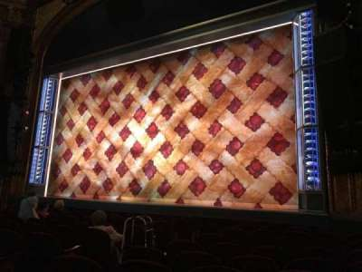 Brooks Atkinson Theatre, section: ORCH, row: J, seat: 10