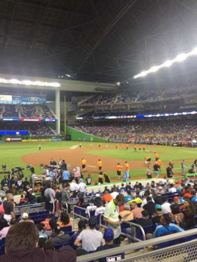 Marlins Park, section: 22, row: 2, seat: 21