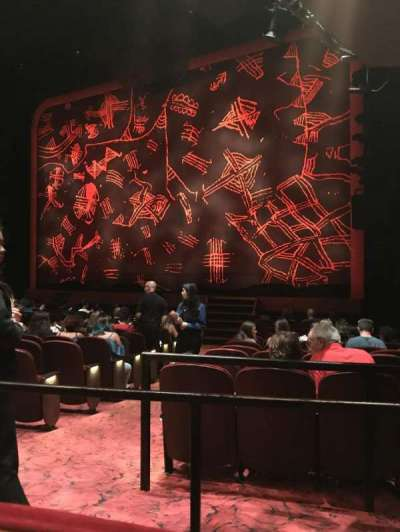 Minskoff Theatre, section: Right Orchestra, row: P, seat: 8