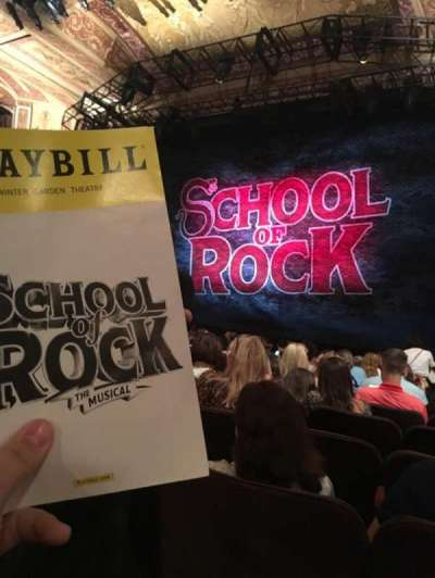 Winter Garden Theatre, section: Orchestra Right, row: P, seat: 8