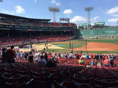 Fenway Park, section: Field Box 14, row: 1, seat: 14