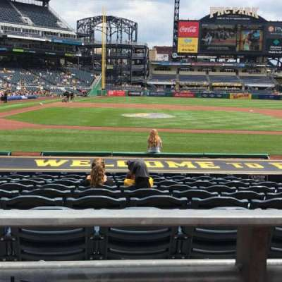Pnc park, section: 112, row: A, seat: 11