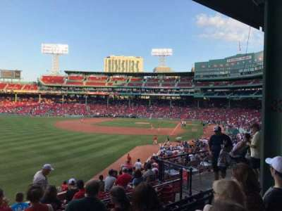 Fenway Park, section: Grandstand 33, row: 5, seat: 9