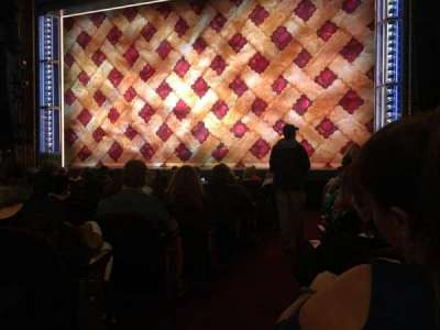 Brooks Atkinson Theatre, section: Right Orchestra, row: K, seat: 2