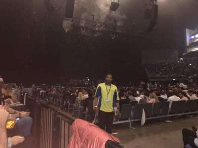 The O2 Arena, section: 102, row: A, seat: 64