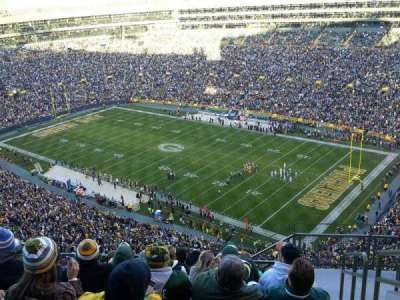 Lambeau Field, section: 730S, row: 11, seat: 10