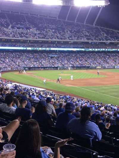 Kauffman Stadium, section: 243, row: LL, seat: 12