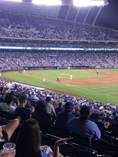 Kauffman Stadium, section: 243, row: LL, seat: 12