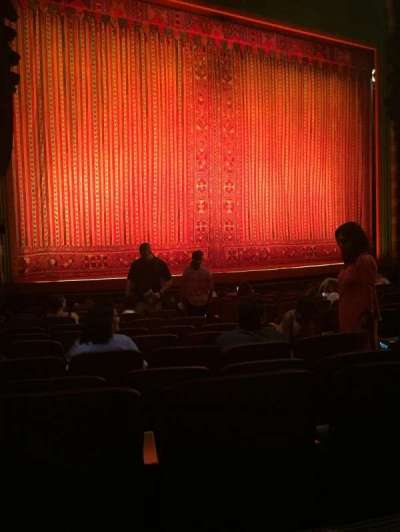 New Amsterdam Theatre, section: Orchestra, row: M, seat: 11