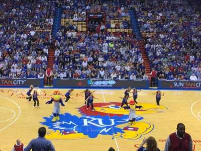 Allen Fieldhouse, section: 17, row: 11, seat: 5