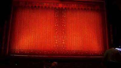 New Amsterdam Theatre, section: orchestra, row: k, seat: 109