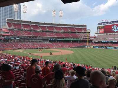 Great American Ball Park, section: 136, row: KK, seat: 19
