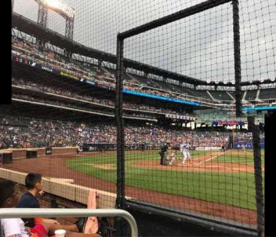 Citi Field, section: 12, row: 2, seat: 1