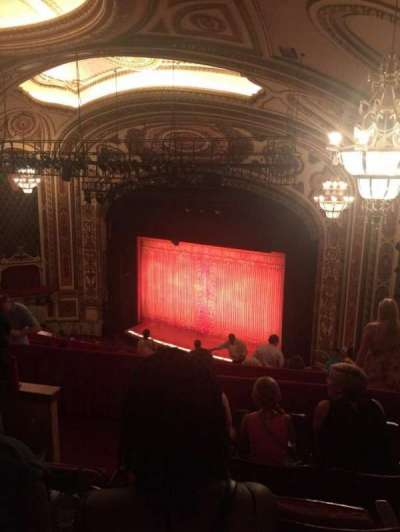 Cadillac Palace Theater, section: Balcony FR, row: O, seat: 36